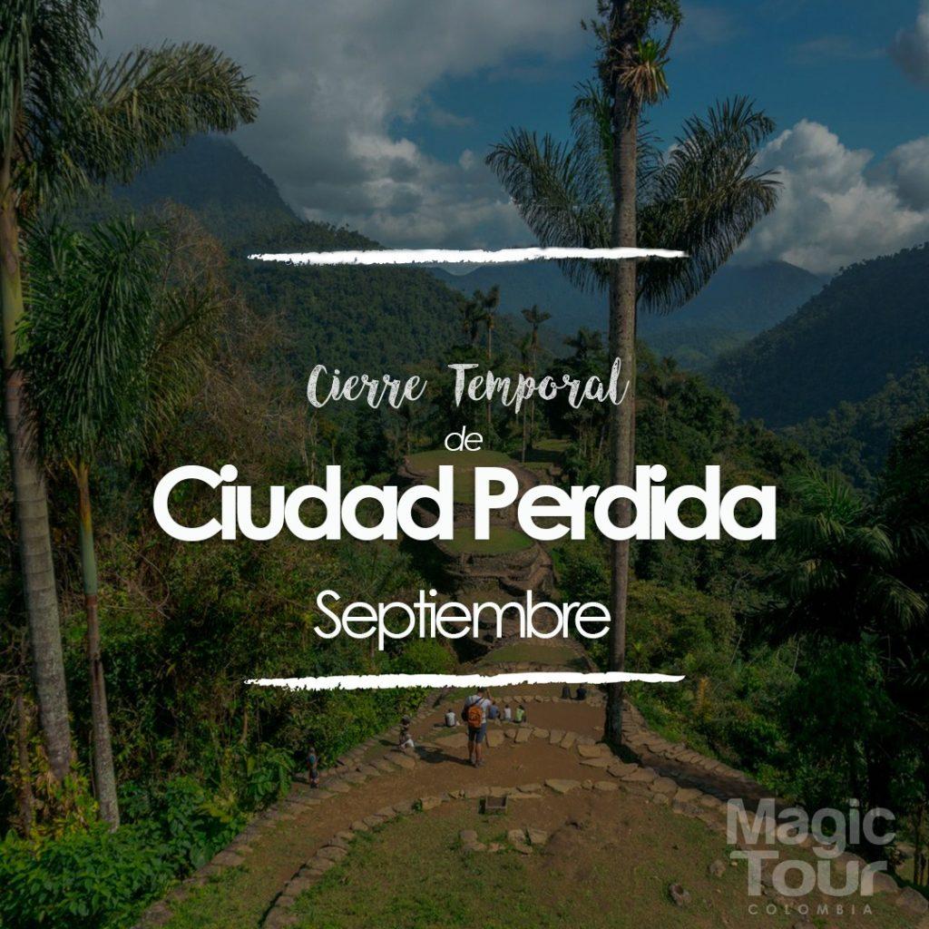 Cierre Ciudad Perdida Colombia