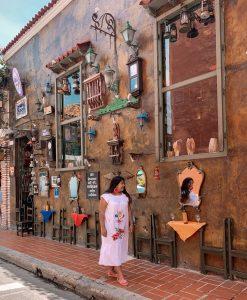 Calles coloridas en Cartagena